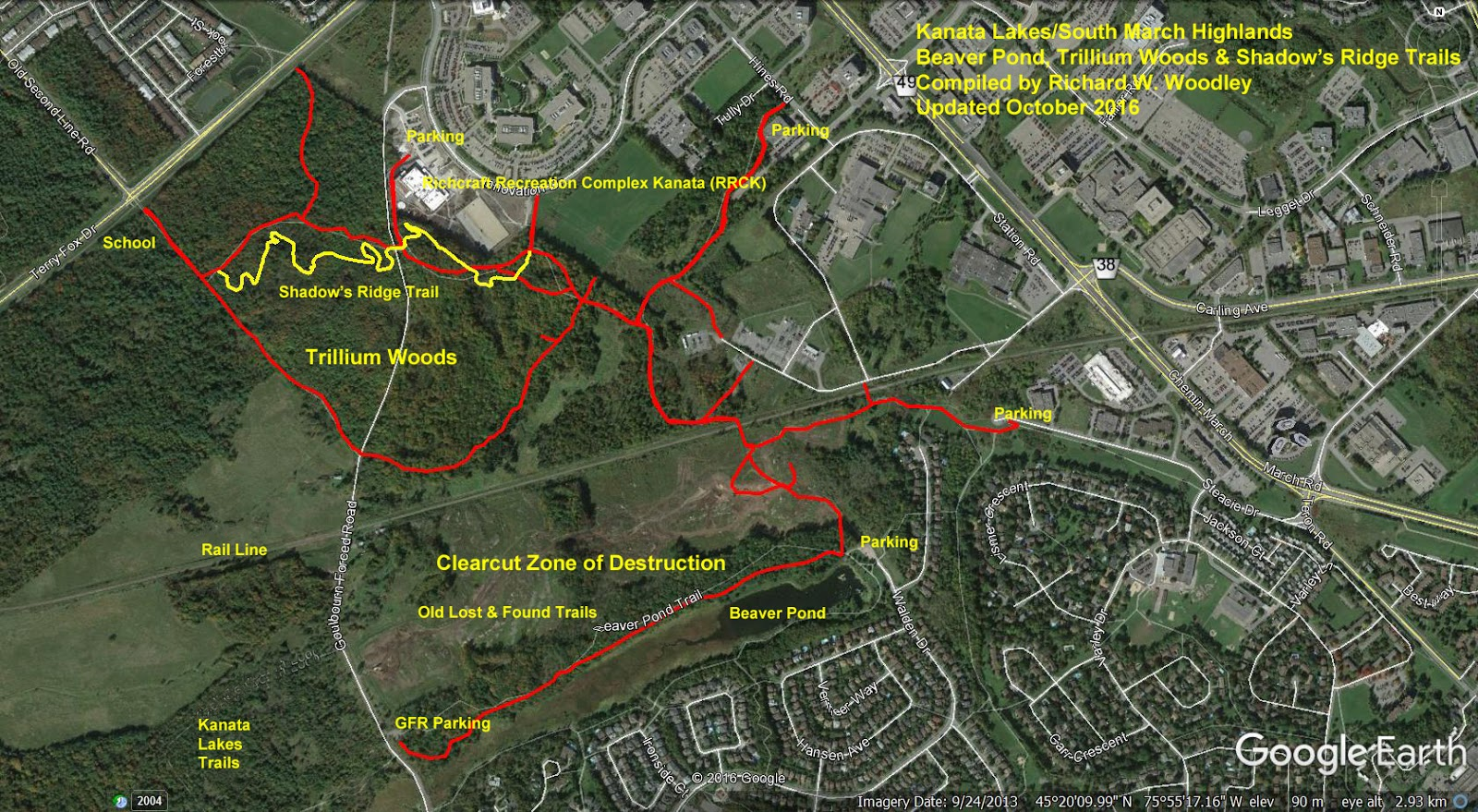 Richards GPS Trail Maps South March Highlands Beaver Pond