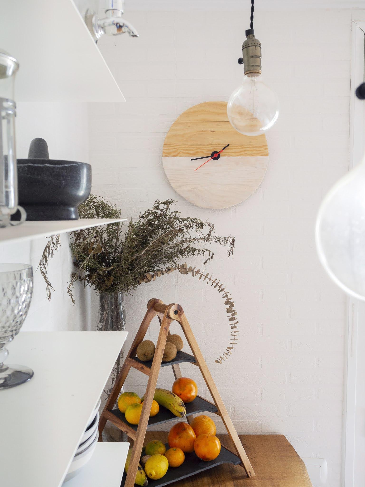 DIY Reloj de madera para nuestra cocina12
