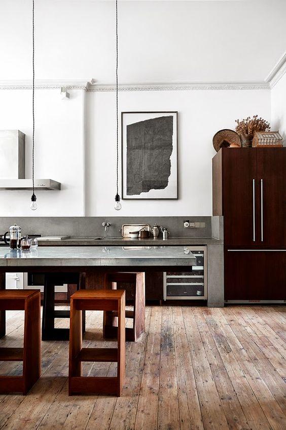 an industrial kitchen