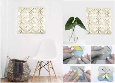 Cómo hacer cuadros-murales de origami-papel doblado