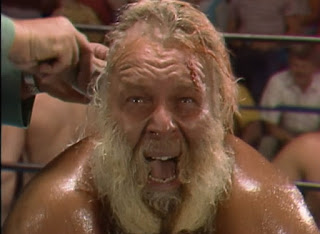 NWA Great American Bash 1986 (Greensboro, July 26th) - Jimmy Valiant is traumatised by getting his head shaved
