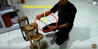 Cara Pasang Thermometer pada Alat Tempat Penyimpanan BBM