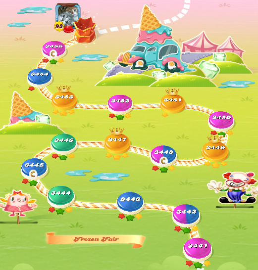 Candy Crush Saga level 3441-3455