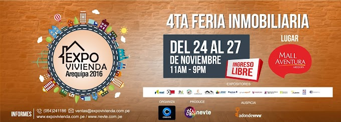 Expo Vivienda, 4ta Feria Inmobiliaria - del 24 al 27 de noviembre