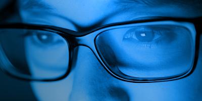 Cuidar vista luz azul