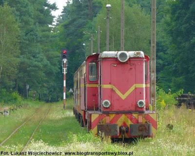 Lokomotywa Lxd2 na terenie Zabytkowej Stacji Kolei Wąskotorowej w Rudach