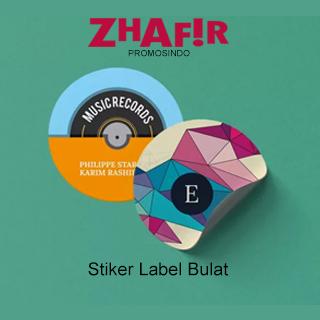 Cetak Stiker Label Bulat