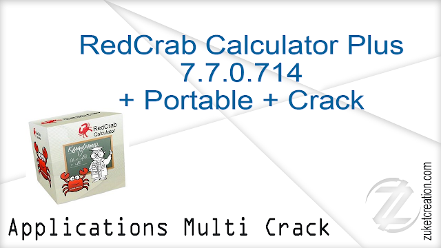 RedCrab Calculator Plus 7.7.0.714 + Portable + Crack     | 59 MB