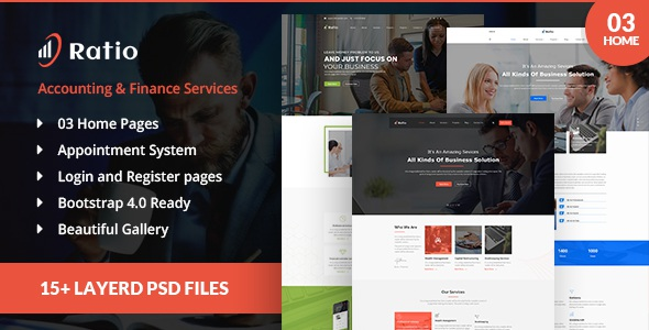 best account services PSD template