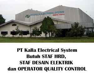 Lowongan Kerja di PT Kalla Electrical System