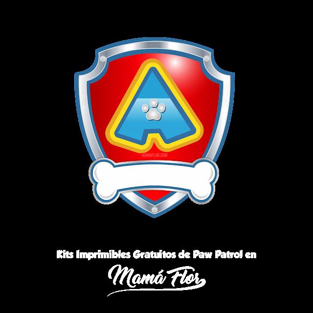 "Logo Paw Patrol: Letra ""A"""