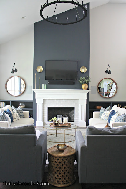 Family room transformation with paint