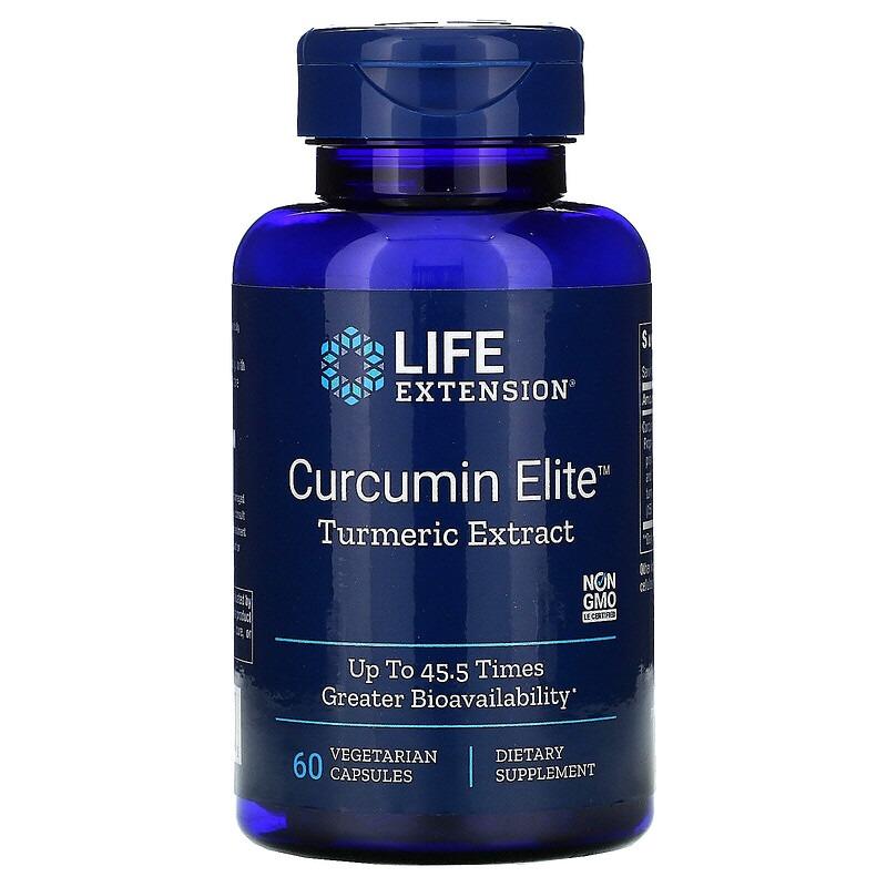 Life Extension, Curcumin Elite, Turmeric Extract, 60 Vegetarian Capsules