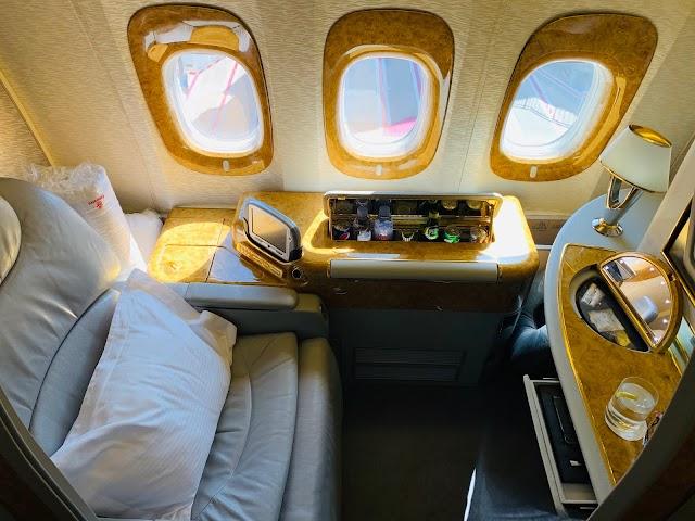 Review: Emirates EK417 First Class Boeing 777-300ER Sydney to Dubai