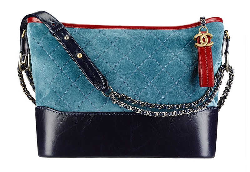 Chanel Gabrielle Hobo Bag in Red, Light Blue and Navy