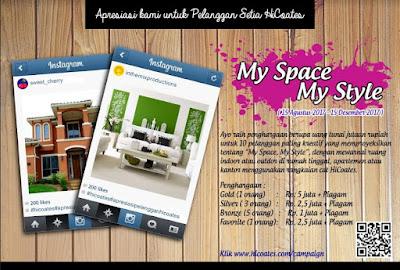 Lomba Foto My Space, My Style 2017 | Cat HiCoates | Umum
