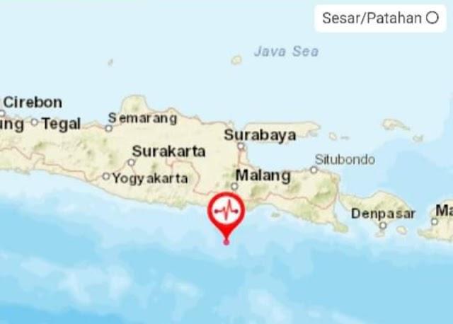 Gempa bumi, M 6,7 guncang Jawa Timur