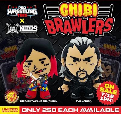 New Japan Pro Wrestling Evil & Hiromu Takahashi Chibi Brawlers Mini Figures by Pro Wrestling Tees x Nerds Clothing