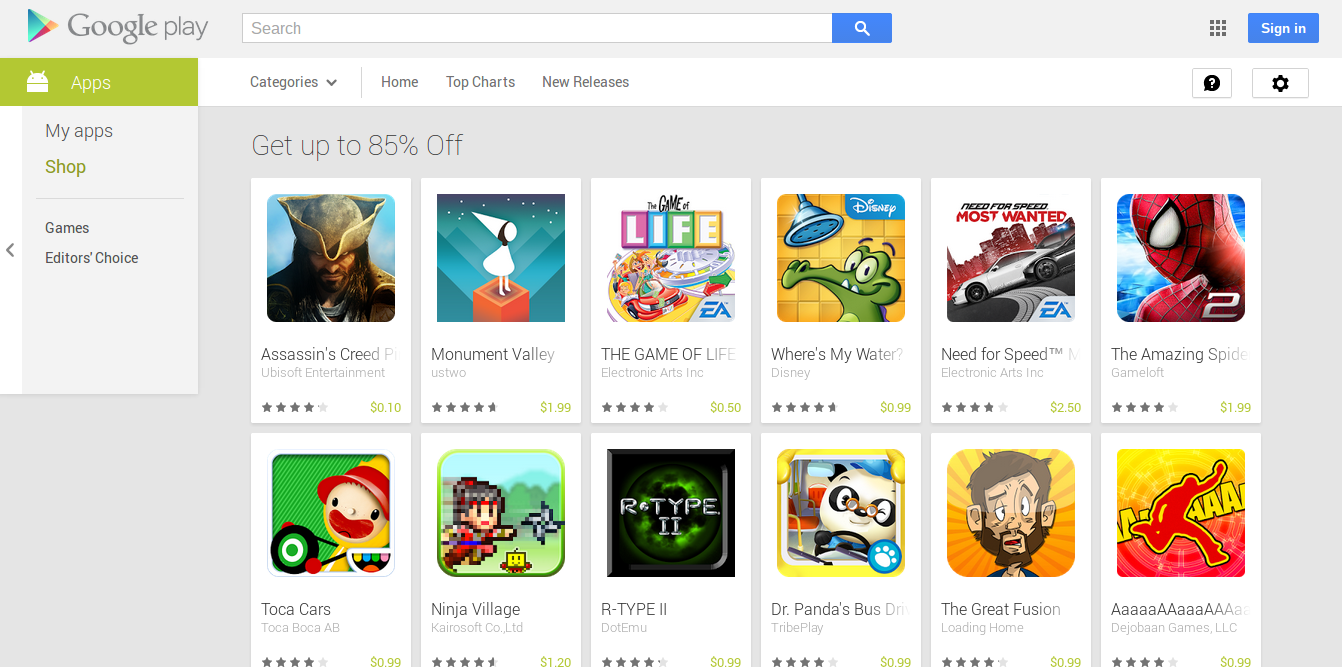 Android Penguin And Life Google Play Store Sale Games