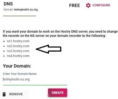 nameserver untuk domain gratisan