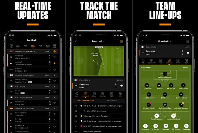 أفضل تطبيقات لمتابعة اخبار ونتائج مباريات كرة القدم للايفون
