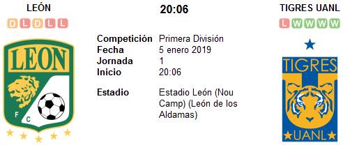 León vs Tigres UANL en VIVO