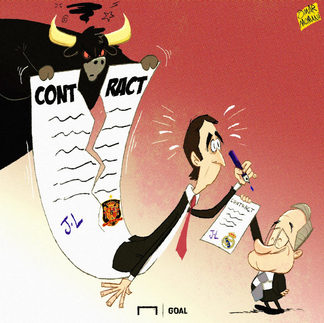 Julen Lopetegui cartoon