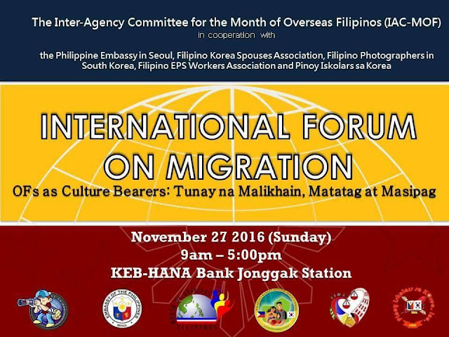 EVENT: International Forum on Migration for Filipino Migrants in South Korea