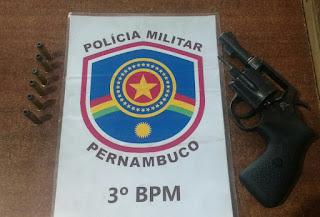 Arcoverde: Motaxista e detido portando arma de fogo