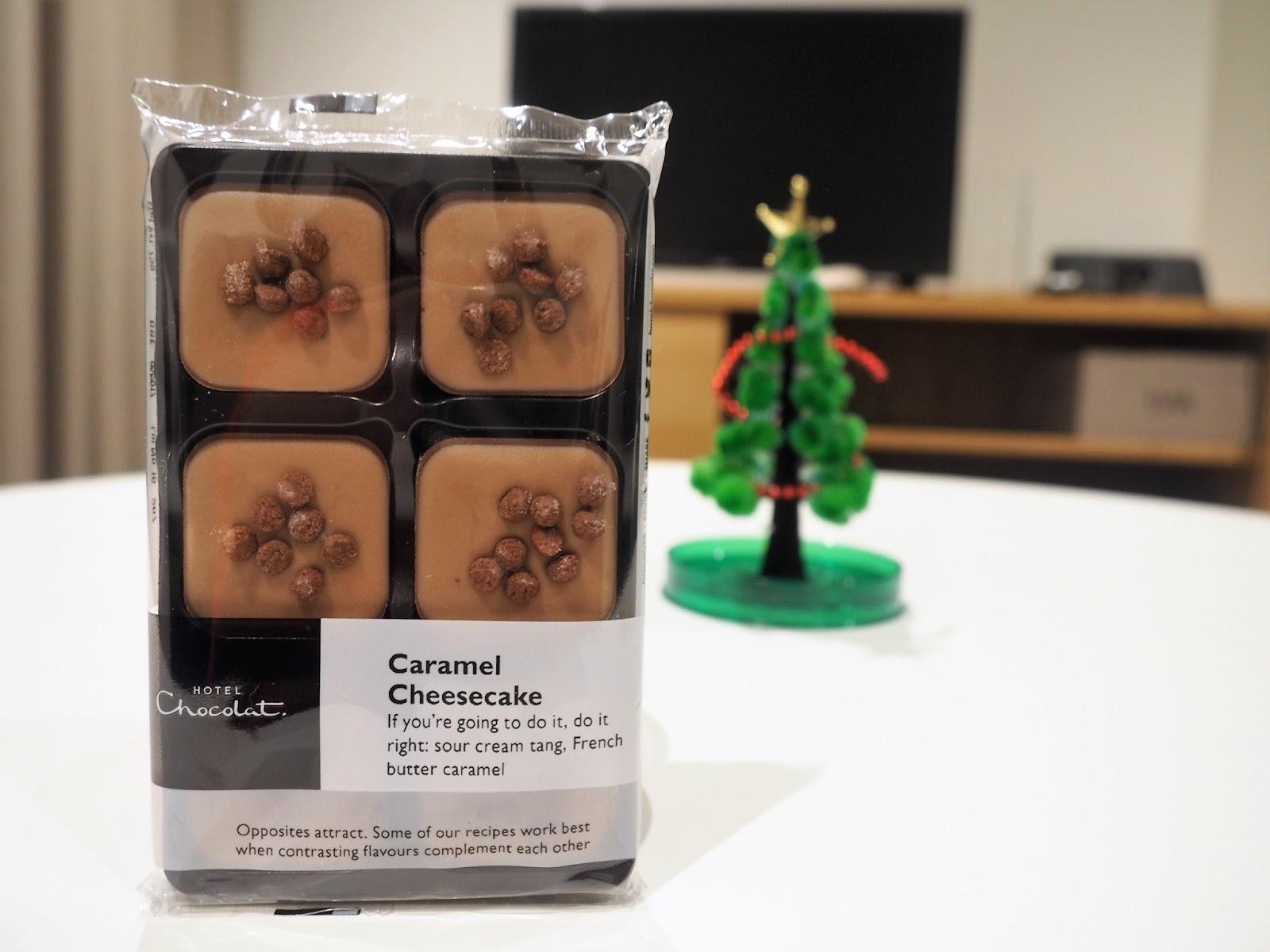 Hotel Chocolat caramel cheesecake selector