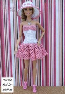 Patrones De Vestidos Para Muñecas Barbie A Crochet