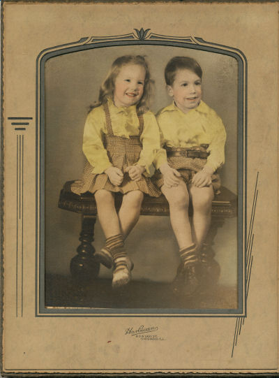brother and sister in 1944