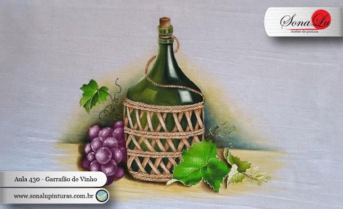 Aula 430 - Garrafão de Vinho com Uvas