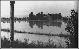 La ermita inundada en los años 50 del S.XX