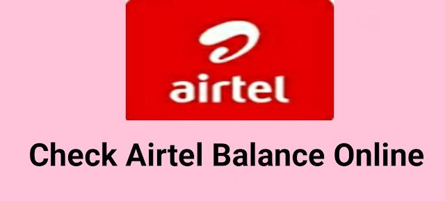 Airtel Balance Check Online