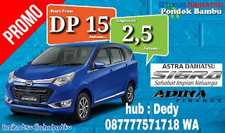 Promo Daihatsu sigra Bekasi Jakarta Juli DP murah