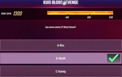 Pertanyaan dan Jawaban Kuis Blood Revenge Hari Keempat  Pertanyaan dan Jawaban H-4 Kuis Blood Revenge Free Fire