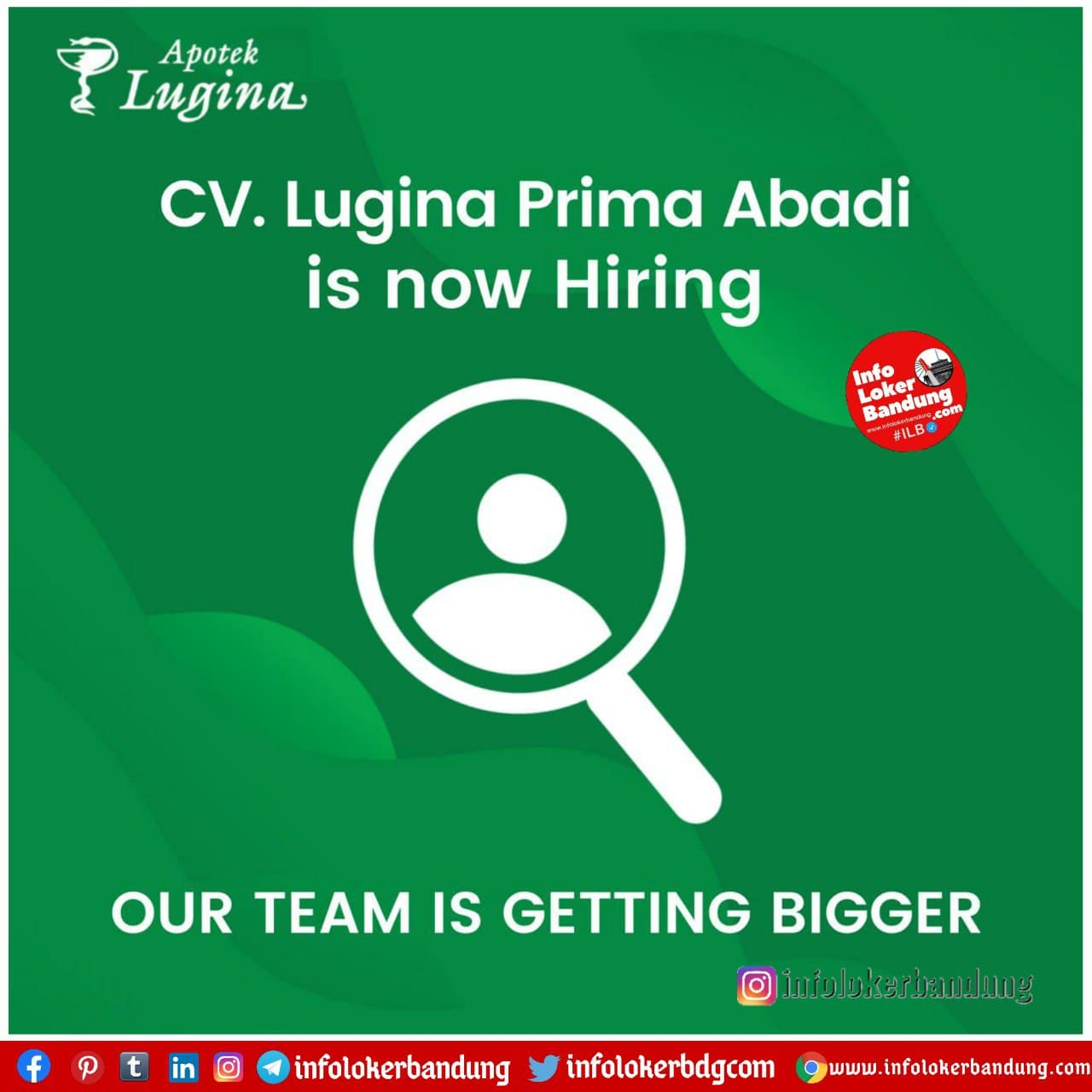 Lowongan Kerja CV. Lugina Prima Abadi Bandung Januari 2021