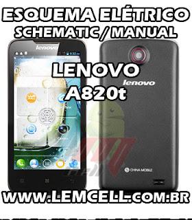 Esquema Elétrico Smartphone Celular Lenovo A820T Service Manual schematic Diagram Cell Phone Smartphone Lenovo A820T Esquematico Smartphone Celular Lenovo A820T
