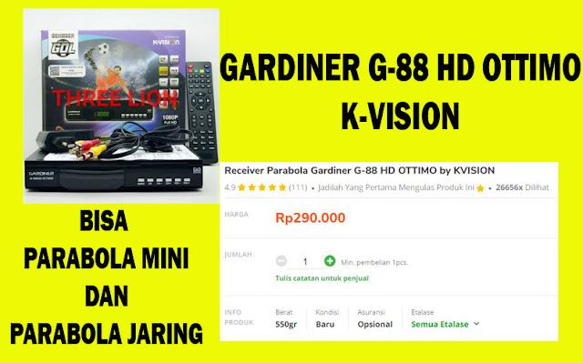 RECEIVER GARDINER G-88 HD OTTIMO C-BAND DAN KU-BAND