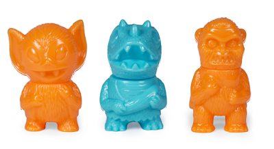 Five Points Festival 2019 Exclusive Bat Boy, Wing Kong & Caveman Dino Orange & Turquoise Micro Vinyl Figures by Super7