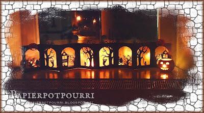 Foto mit beleuchtetem Halloween-Leporello
