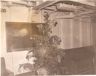 Christmas tree on Eastwind 1946