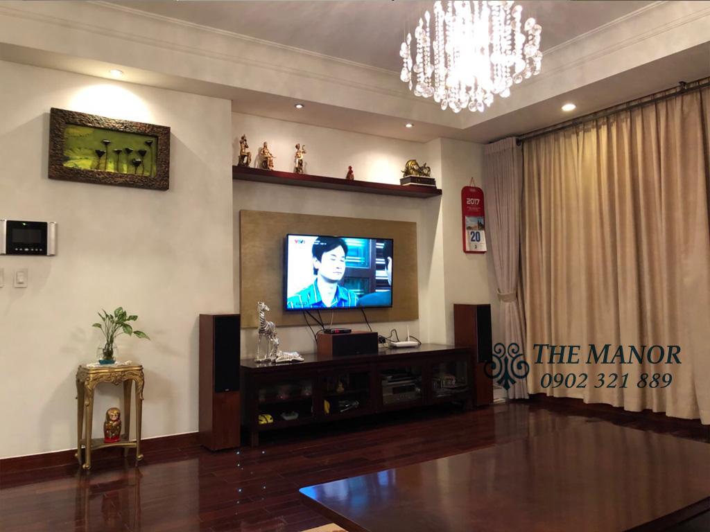 3 phòng ngủ cho thuê The Manor căn hộ 163m2 nội thất đẹp - tivi tại phòng khách