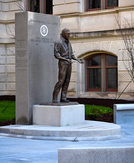 Jimmy Carter Statue at the Georgia Capitol Building | Photo by Travis Swann Taylor
