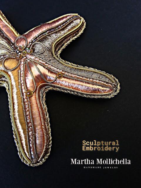 Sculptural Embroidery Martha Mollichella