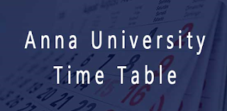 Anna university time table 2015