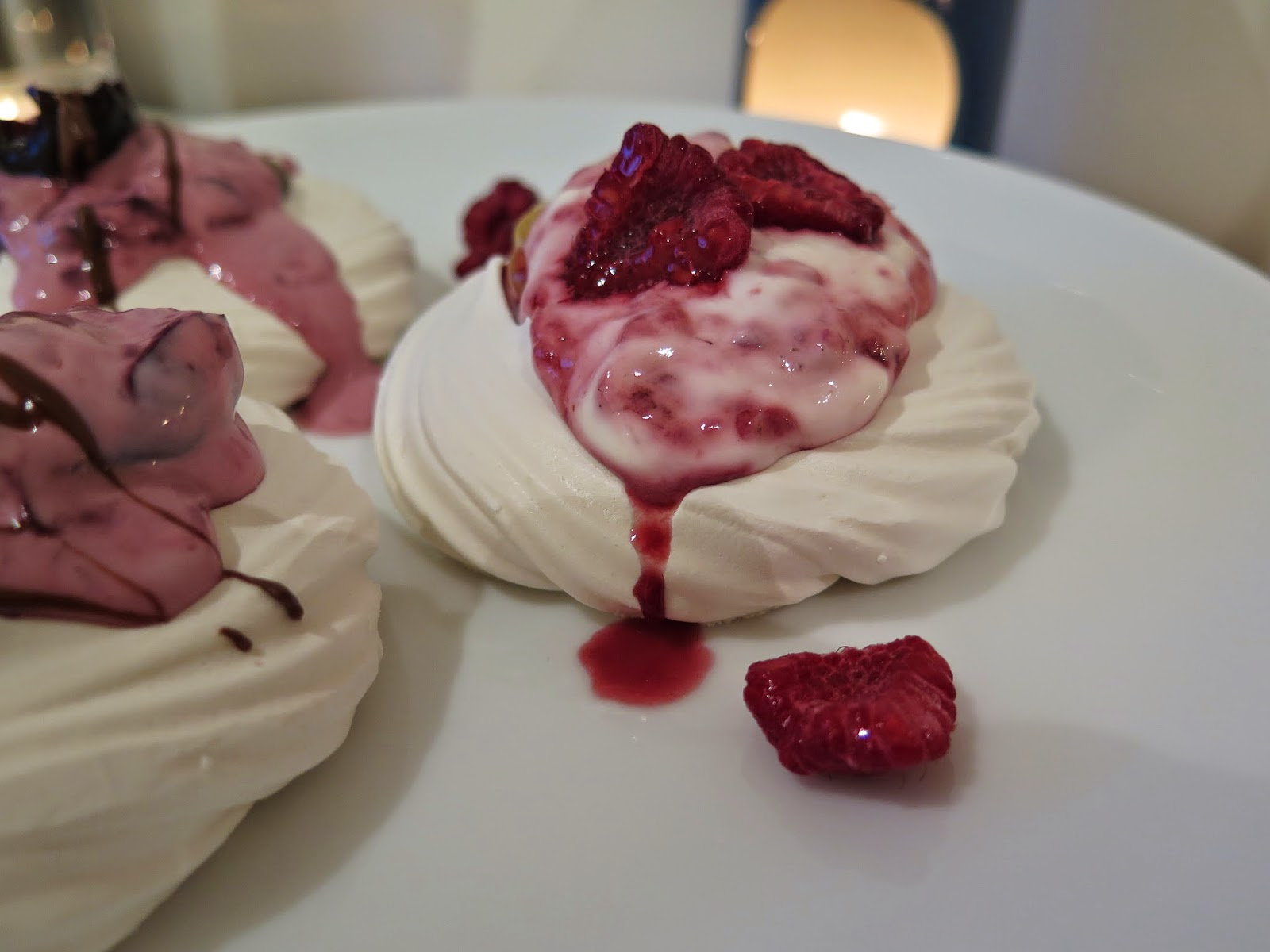 lemon and raspberry meringue