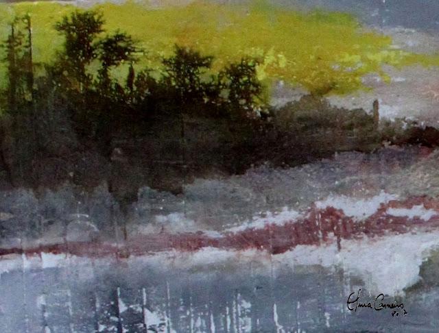 """Detalhes da série """"Meus caminhos"""" -  abstract_landscap - Elma_Carneiro - mista s/tela-texturas, pigmentos fluidos - 29/09/2017"""