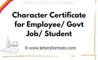 character certificate for employee format